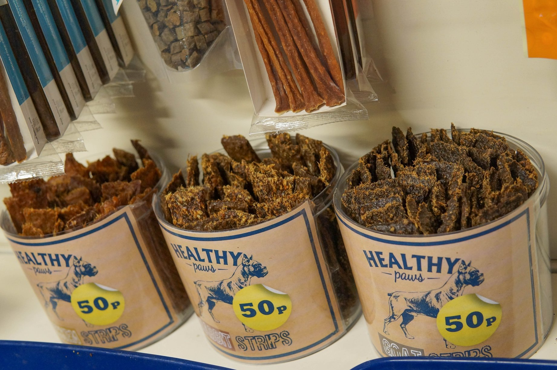 Massive range of all natural dog treats