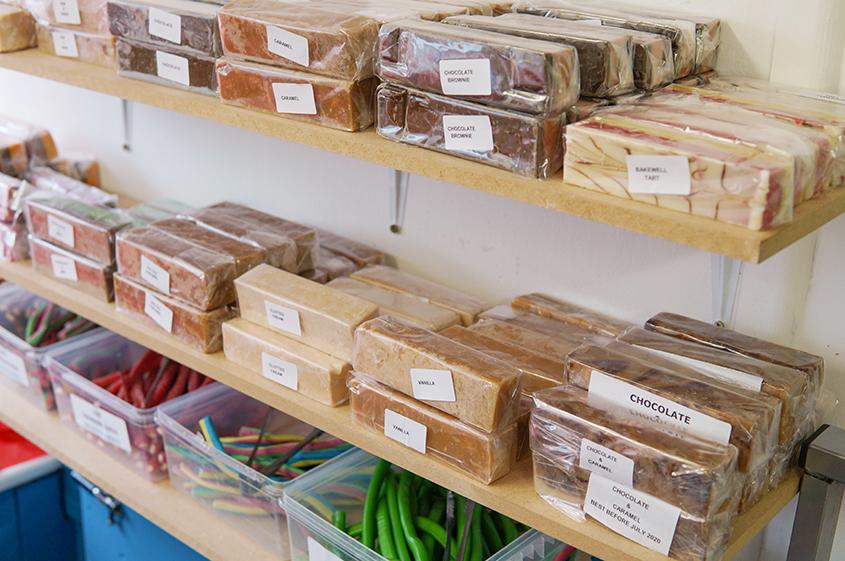 Fudge selection at Candy Cabin